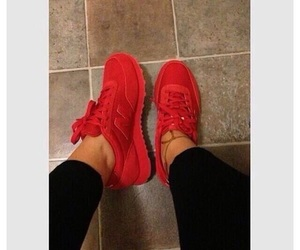 new balance, red, and shoes image