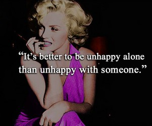 quote, Marilyn Monroe, and unhappy image
