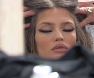 model, Bianca Balti, and hair image