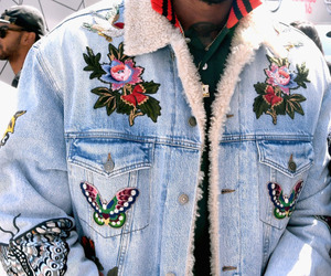 jacket, fashion, and butterfly image