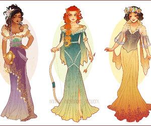 disney, princess, and merida image