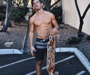 abs, guy, and long board image