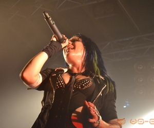 blue hair, goth, and singer image