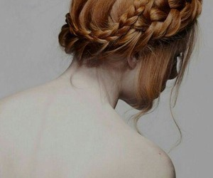 hair, braid, and redhead image