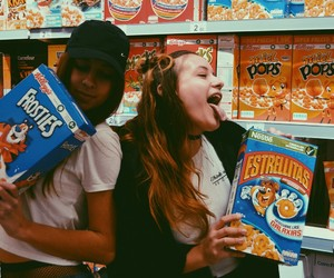 cereals, frosties, and girls image