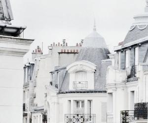 white, city, and paris image