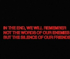remember, in the end, and silence image