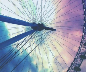 carousel, tumblr, and raibow image