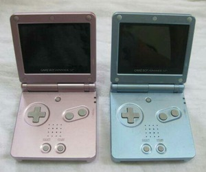 gameboy, pink, and blue image