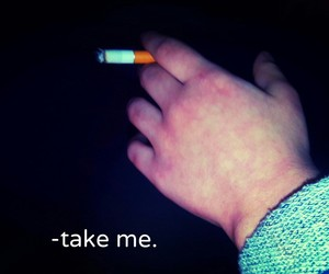blue, trip, and cigarettes image