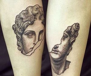 art, tattoo, and couple image