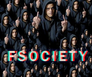 mr robot, fsociety, and eliot alderson image