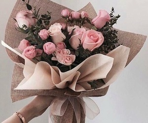 gift, pink roses, and valentin's day image
