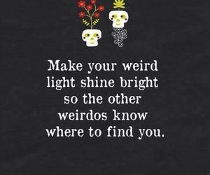 weird, light, and quotes image