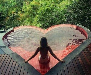 heart and pool image
