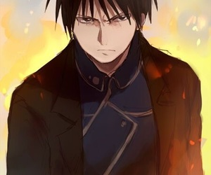 fullmetal alchemist, roy mustang, and anime image