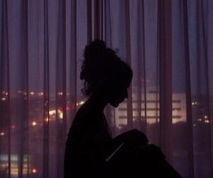 girl, night, and tumblr image