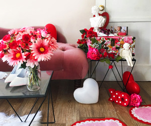 girly, hearts, and pink image