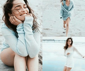actress, beach, and beautiful image