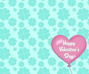 background, mint, and heart ballon image