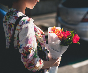 flowers, romantic, and spring image