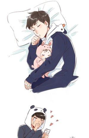 baby, chibi, and exo image