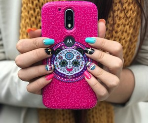 nails, styles, and pink image
