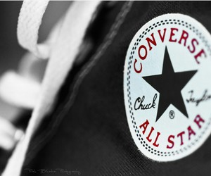 all star, converse all stars, and black and white image