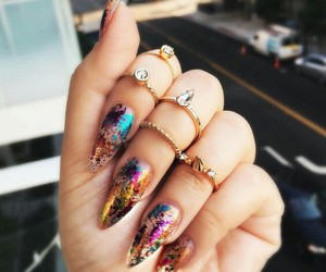 bling, rings, and colours image