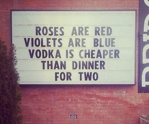 vodka, rose, and funny image