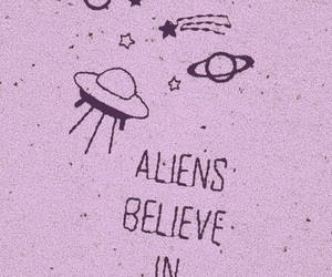 alien, believe, and quotes image