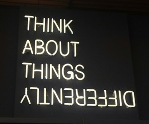 quotes, neon, and black image