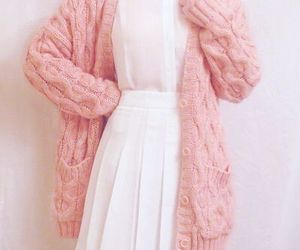 pink, dress, and white image