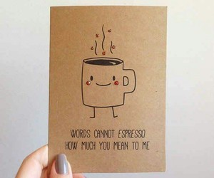 funny, coffee, and card image