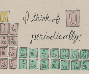 love, chemistry, and periodic table image