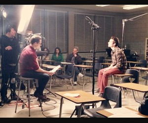 behind the scene, dylan o'brien, and teen wolf image