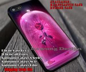 beauty and the beast, rose, and phone covers image