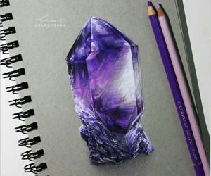 drawing, art, and crystal image