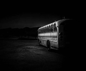 black, Darkness, and bus image