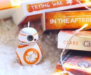 orange, star wars, and bb8 image
