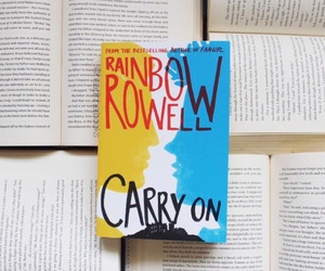 book, carry on, and rainbow rowell image