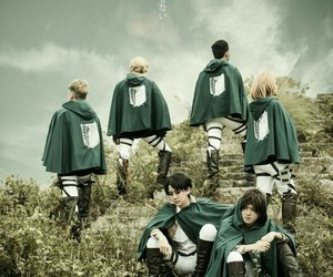 cosplay and attack on titan image