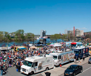 festival, food truck, and fast food truck image