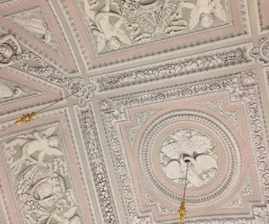 architecture, pink, and ceiling image
