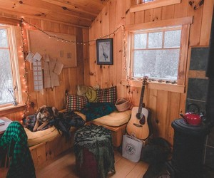 cabin, furniture, and home image