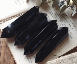 black, crystal, and witch image