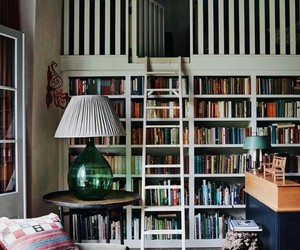 book shelf, reading room, and books image