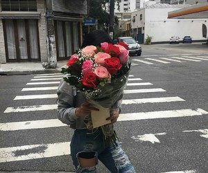 flowers, grunge, and roses image