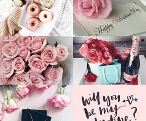 doughnuts, rose, and valentine image