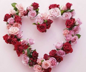flowers, heart, and love image